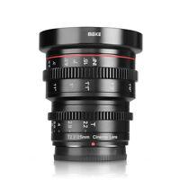Meike 25mm T2.2 Manual Focus Prime Cine Lens for Panasonic Olympus M4/3 BMPCC