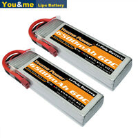 2pcs 11.1V 3S 6500mAh LiPo Battery 60C Deans for RC Helicopter Airplane Car Boat