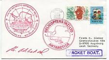 1988 Helicopters Antarctica Italian Antarctic Expedition Polar Cover SIGNED