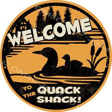 Quack Shack Metal Sign, Humor, Cabin Decor, Duck, Den Decor, Mancave, Dorm Decor