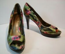 Bandolino Pumps BD7Jamara AA6.5 Abstract Floral Print PeepToe Multi-Color