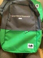 HIGH MAINTENANCE Stoner Backpack Promo HBO Only Collectible Show Logo New SWAG!