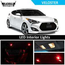 Red LED Interior Lights Replacement Kit for 2012-2017 Hyundai Veloster 8 bulbs