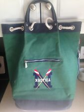 Vintage Nautica Shoulder Canvas Embroidered Rowing Duffle Bag Carry-On Bag