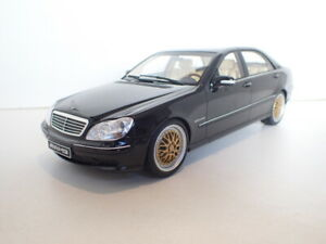 1/18 Mercedes-Benz S65 AMG (W220) 2004 with funtional custom rims BBS - Otto