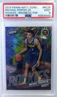 2019 Panini Rookies Magnetic Fur Michael Porter Jr #RC25, #'d/99, PSA 9, Pop1 0^