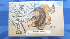 Vintage Comic Postcard 1904 Hunter In PITH HELMET LION - SITUATIONS VACANT