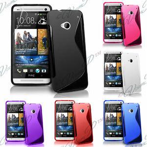 Housses etui coque pochette silicone TPU S pour HTC One (M7)
