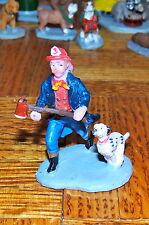 FIREMAN with DOG FIGURE TRUE 1:24 G SCALE DIORAMA