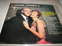 JEANETTE MACDONALD & NELSON EDDY FAVORITES IN STEREO LP EX RCA LSP-1738 1959