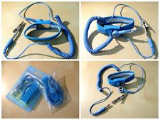 Anti-Static ESD Electric Discharge Band Grounding Wrist Strap Blue