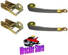 SET OF (2) OEM WHEEL LIFT STRAPS & (2) RATCHETS for DYNAMIC CENTURY VULCAN LIFTS