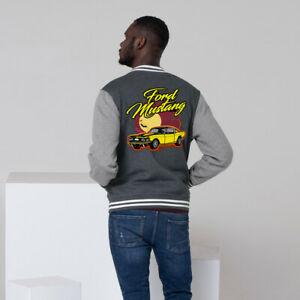 Ford Mustang Muscle car Men's Letterman Jacket