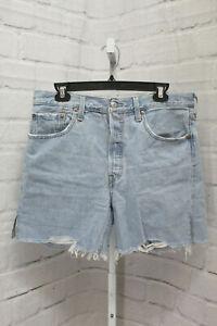 Levi's Premium 501 Mid Thigh Shorts, Women's Size 31, Light Wash NEW
