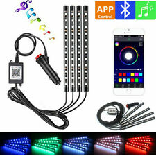 4x RGB LED Innenraumbeleuchtung Auto KFZ Ambiente Fußraumbeleuchtung App Control