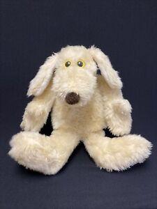 "Vintage LE MUTT Francesca Hoerlein 21"" Stuffed Plush Tan Puppy Dog Yellow Eyes"