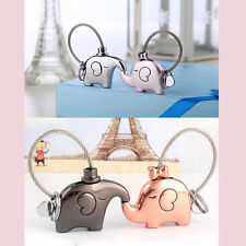 1 Pair Elephant Pendant Keychain Fr Lovers Couple Key Ring Trinket Nice Gift
