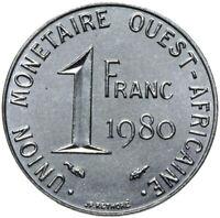 Französisch Westafrika - Münze - 1 Franc 1980