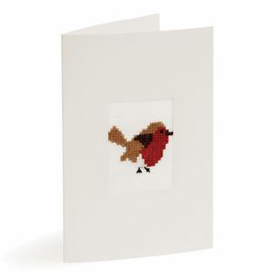 Robin Cross Stitch Card