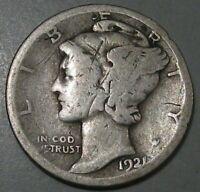 Key-Date 1921-d Mercury Dime.  #8