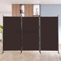3-Panel 8.5x6ft Vintage Folding Room Divider Partition Privacy Screen Separator