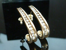 Excellent Cut Natural Yellow Gold VS1 Fine Diamond Earrings