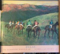 "Degas ""Racehorses in a Landscape"" Met Museum Poster 34 X 29 1/2"