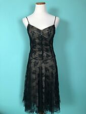 Alexia Admor Black Lace and Nude Dress Size M