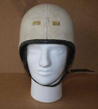 Rare casque moto «type aviateur haut» vintage homologué NF