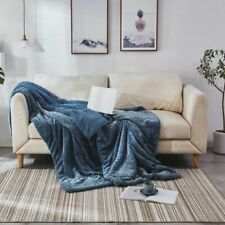 Soft Fluffy Embossed Blanket Mink Throw Warm Sofa Blankets On The Bed