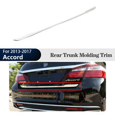 Chrome Rear Trunk Tailgate Door Cover Trim Molding For Honda Accord 2013-2017