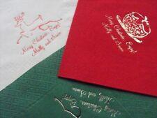 100 x Personalised Christmas Napkins