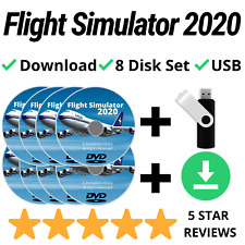 Flight Simulator 2020 DELUXE Edition X USB Aircraft Airplane Helicopter Sim PC