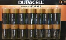 (14) Duracell Coppertop Alkaline D Batteries - NIP