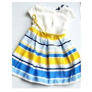 Debenhams Baby Girls Stripe Party Dress - Wedding Occasion Outfit BNWT 12-18 Mth