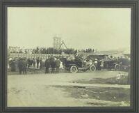 1920 Photograph, 12x13 Freemason Ceremony Baby Wheelchair, Gelatin-Silver Sepia