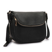 New Womens Handbags Leather Crossbody Bags Messenger Bag Travel Front Flap Purse