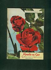 Blumen Frühjahrskatalog 1954 Bernardus von Saase Aalen Pflanzen Stauden Fotos