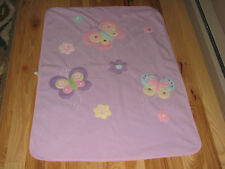 CIRCO BABY GIRL FLEECE BLANKET PURPLE PINK BUTTERFLY FLOWER