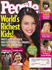 WORLDS'S RICHEST KIDS Miley Cyrus Jonas Brothers People Magazine 5/5/08 C-2-2