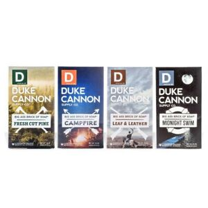 Duke Cannon Big Brick of Soap Campfire, Leaf & Leather, Fresh Pine Midnight Swim