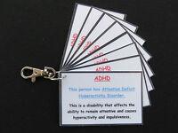 ADHD Awareness & Contact Details Key Ring