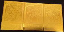 USA Seller Yugioh English Egyptian God Golden Metal Card Obelisk Slifer RA