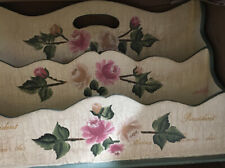 Desk Accessories- Wooden Painted Floral Mail organizer from AVON