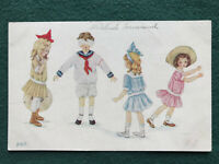Children Sunday Best Playing Hide and Seek Color Art Postcard ca. 1910 Owen 990
