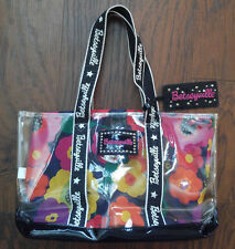 Betsey Johnson Betseyville Tote Purse Clear Vinyl Floral Lining