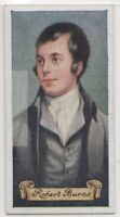 Robert Burns Scottish Poet  Lyricist Author 80+ Y/O Trade  Card