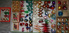 126 Vintage Glass Christmas Tree Ornaments Mixed eras 60s through to 90s