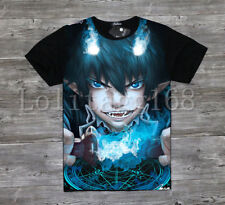 Anime Ao no Exorcist okumura rin T-shirt Tee Top Short Sleeve Cosplay Costume