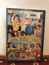 El Prieto, El Caballo Y El Panzon 8 películas en un ( DVD )